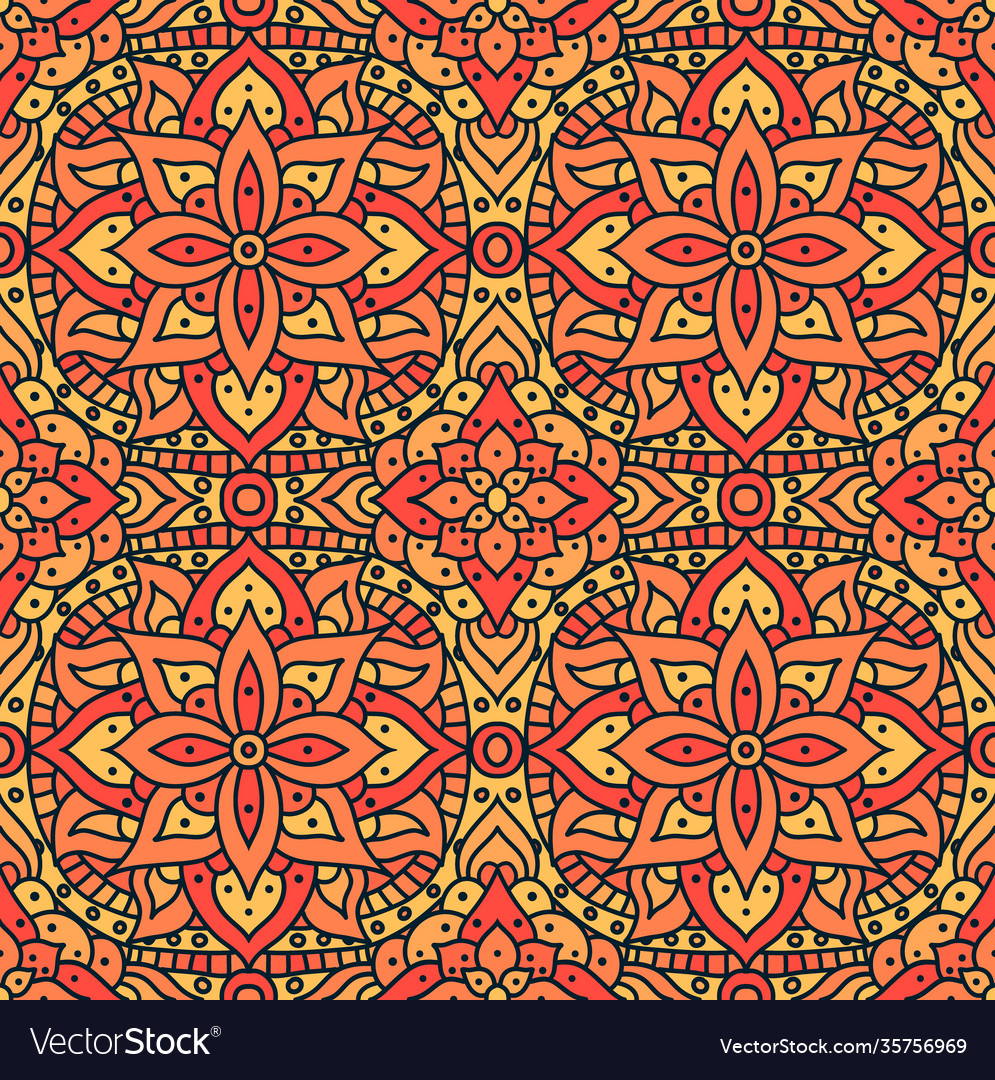 Indian mandala pattern seamless design
