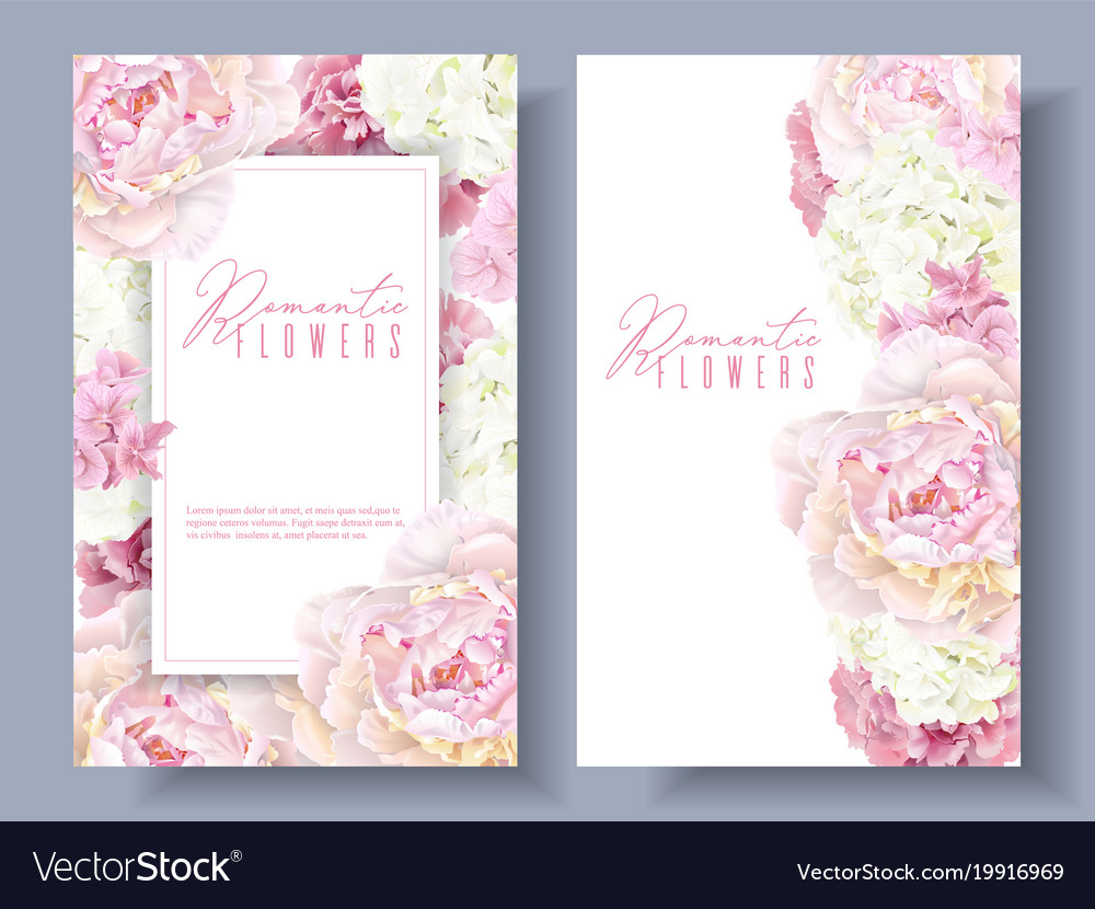 Peony pink banners