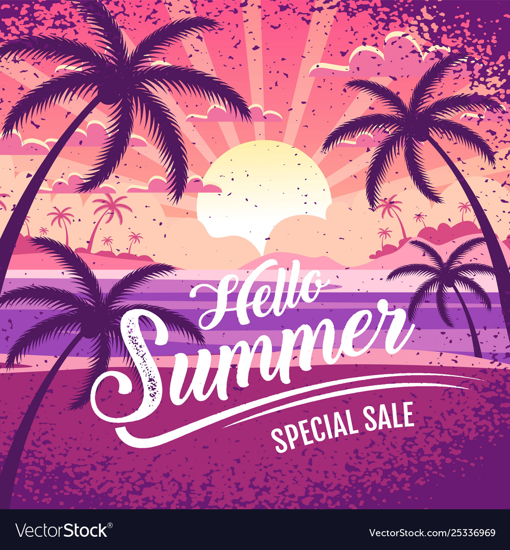 Summer layout template design holiday