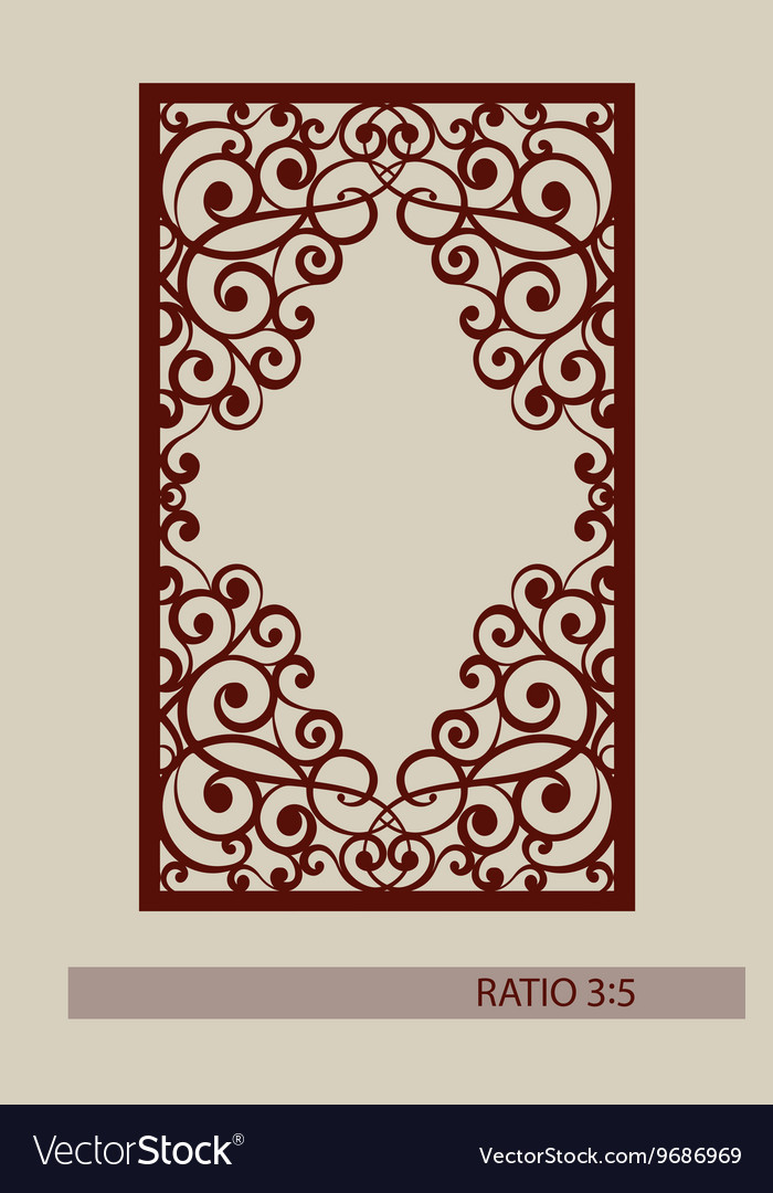 The template for laser cutting decorative panel Vector Image