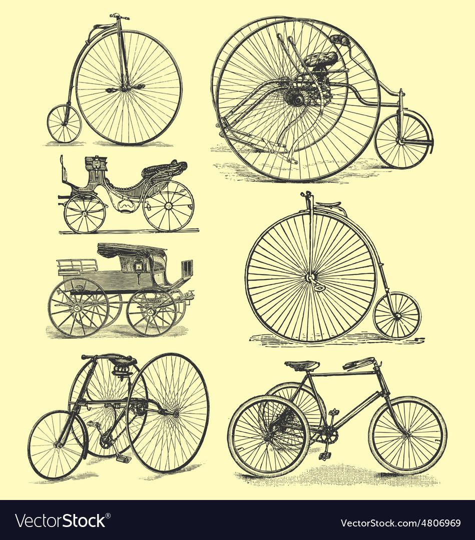 Vintage bicycle drawings