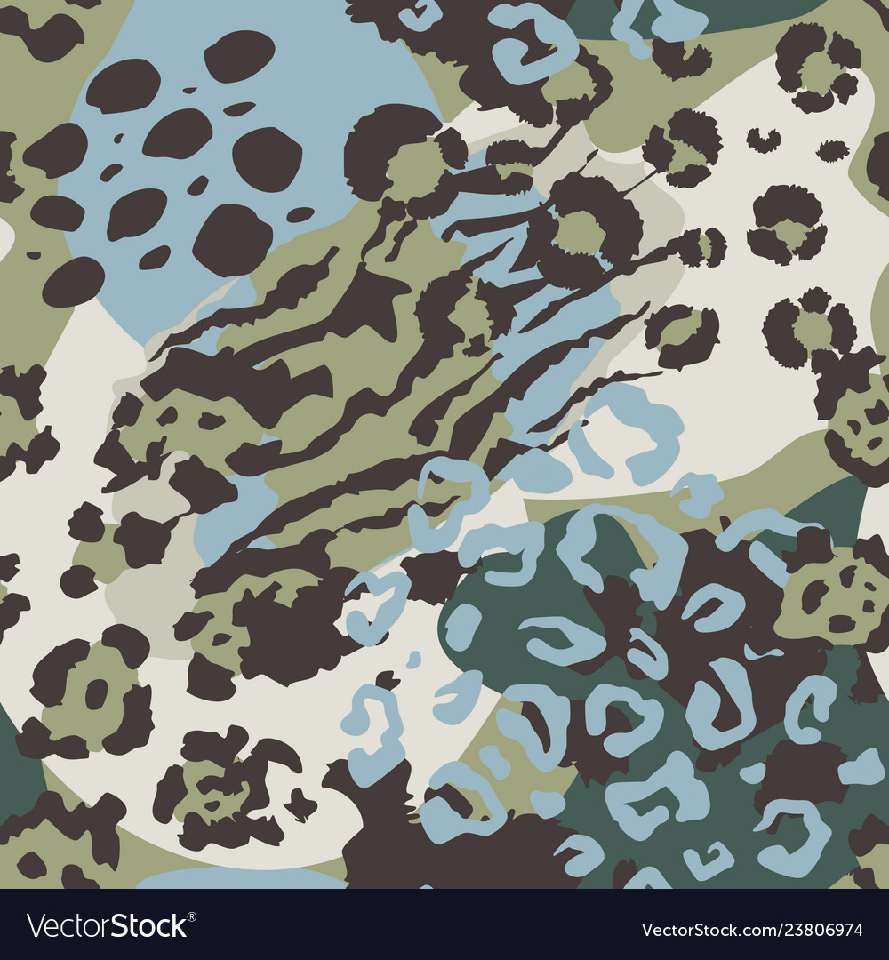 Abstract seamless pattern with animal skin