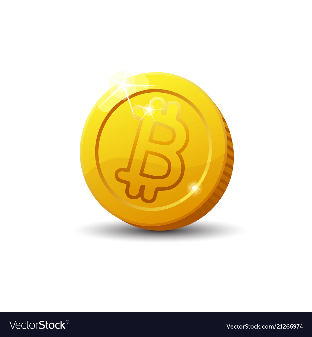 Bitcoin sign isolated on white background