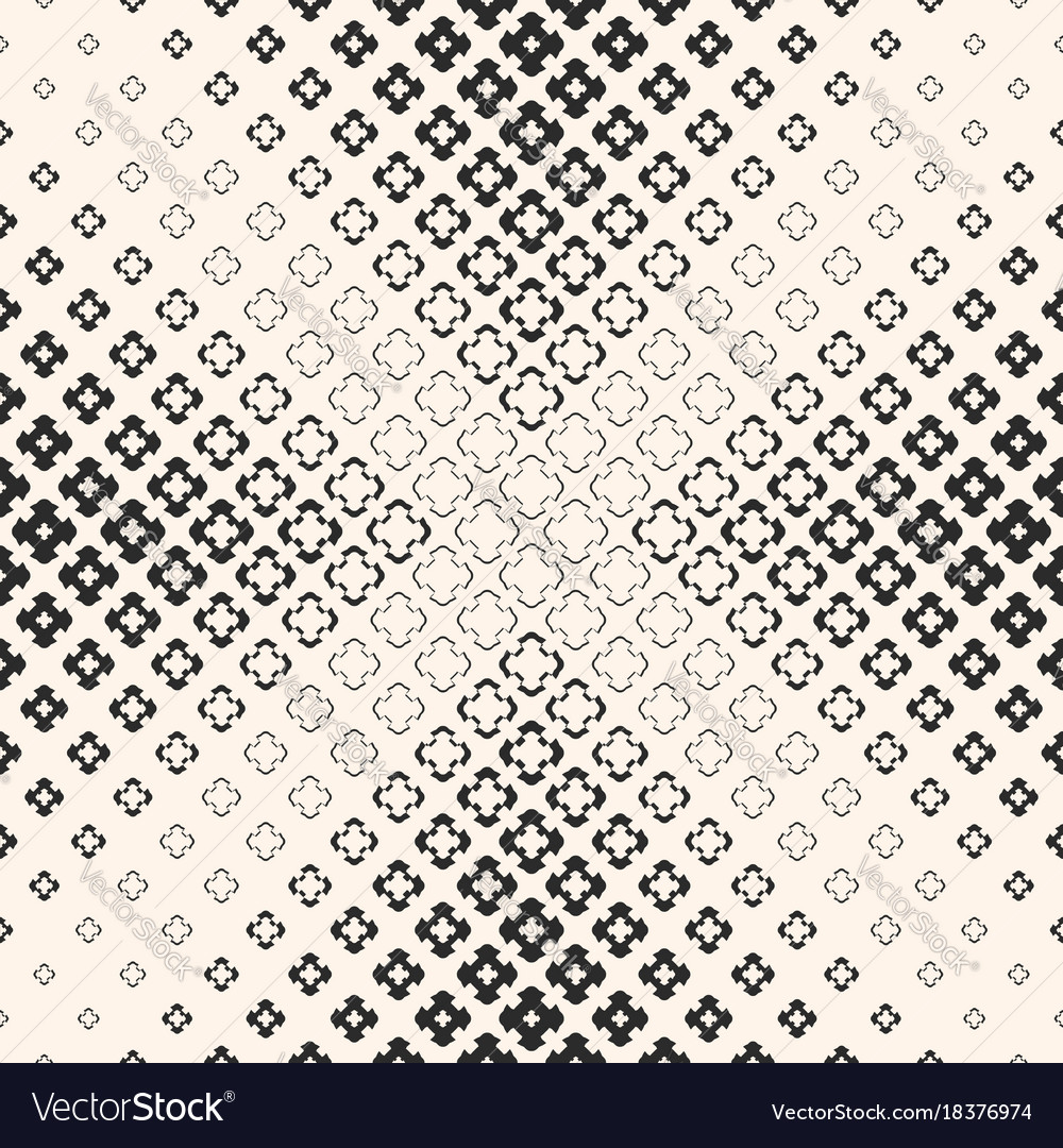 Halftone texture floral seamless pattern