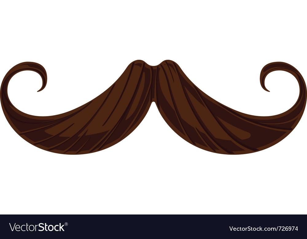handlebar mustache royalty free vector image vectorstock rh vectorstock com mustache vector image mustache vector free
