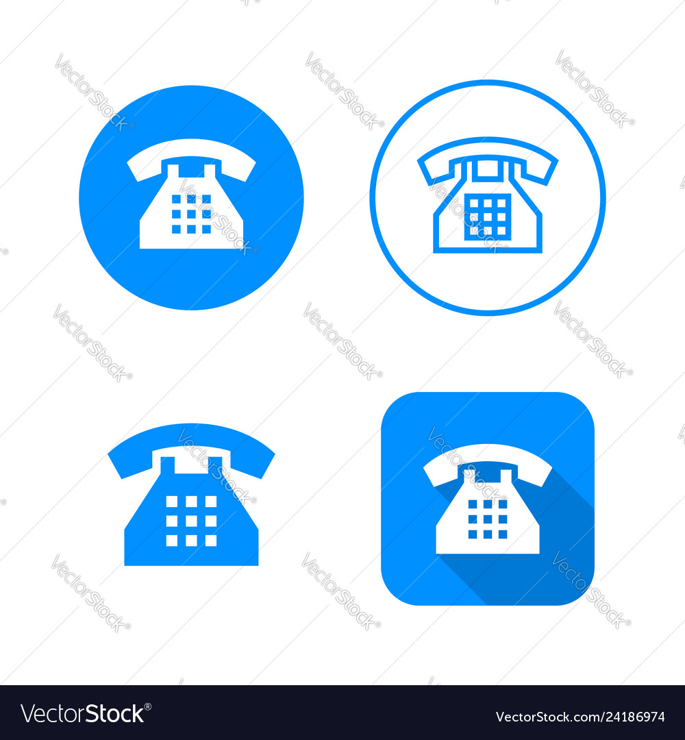 Phone icon four variants classic symbol icon in