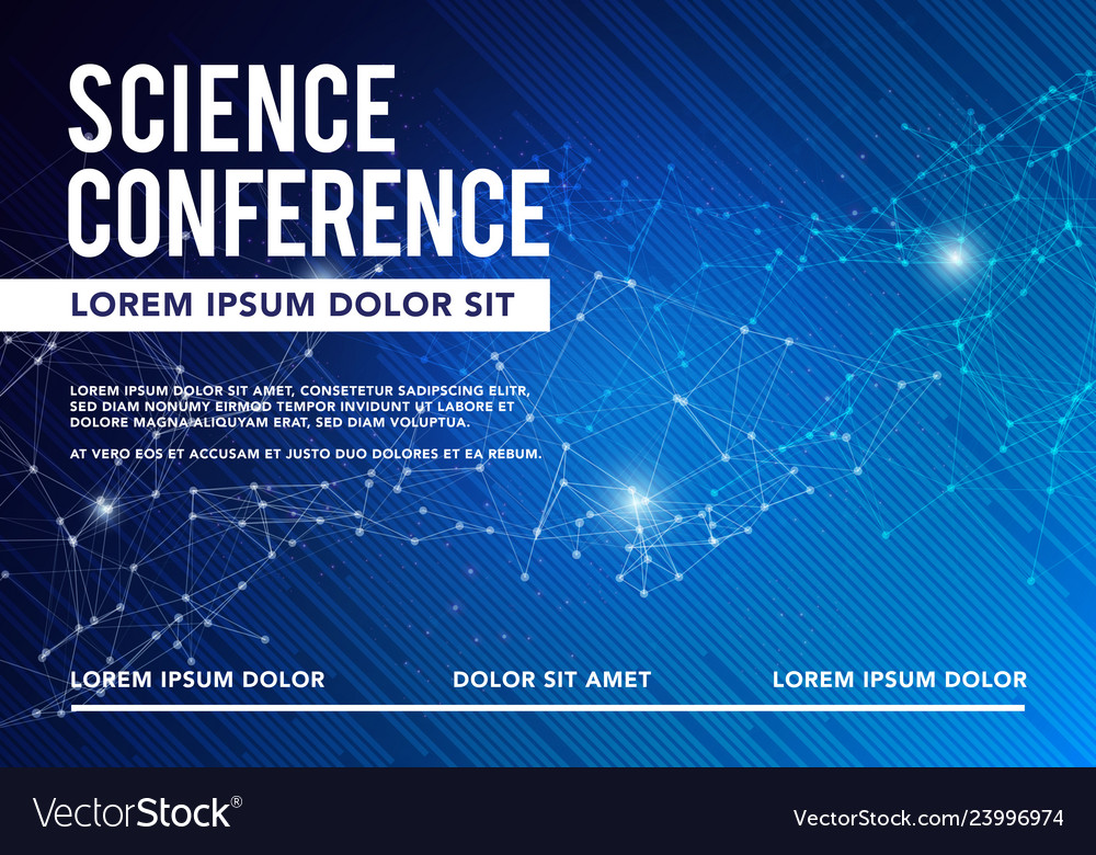 Science conference business design brochure