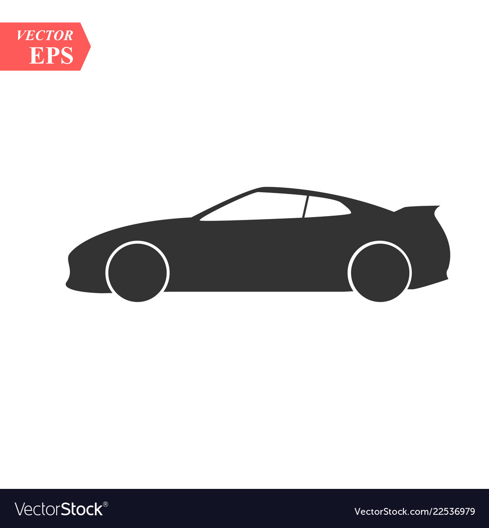 Car icon isolated simple front car logo
