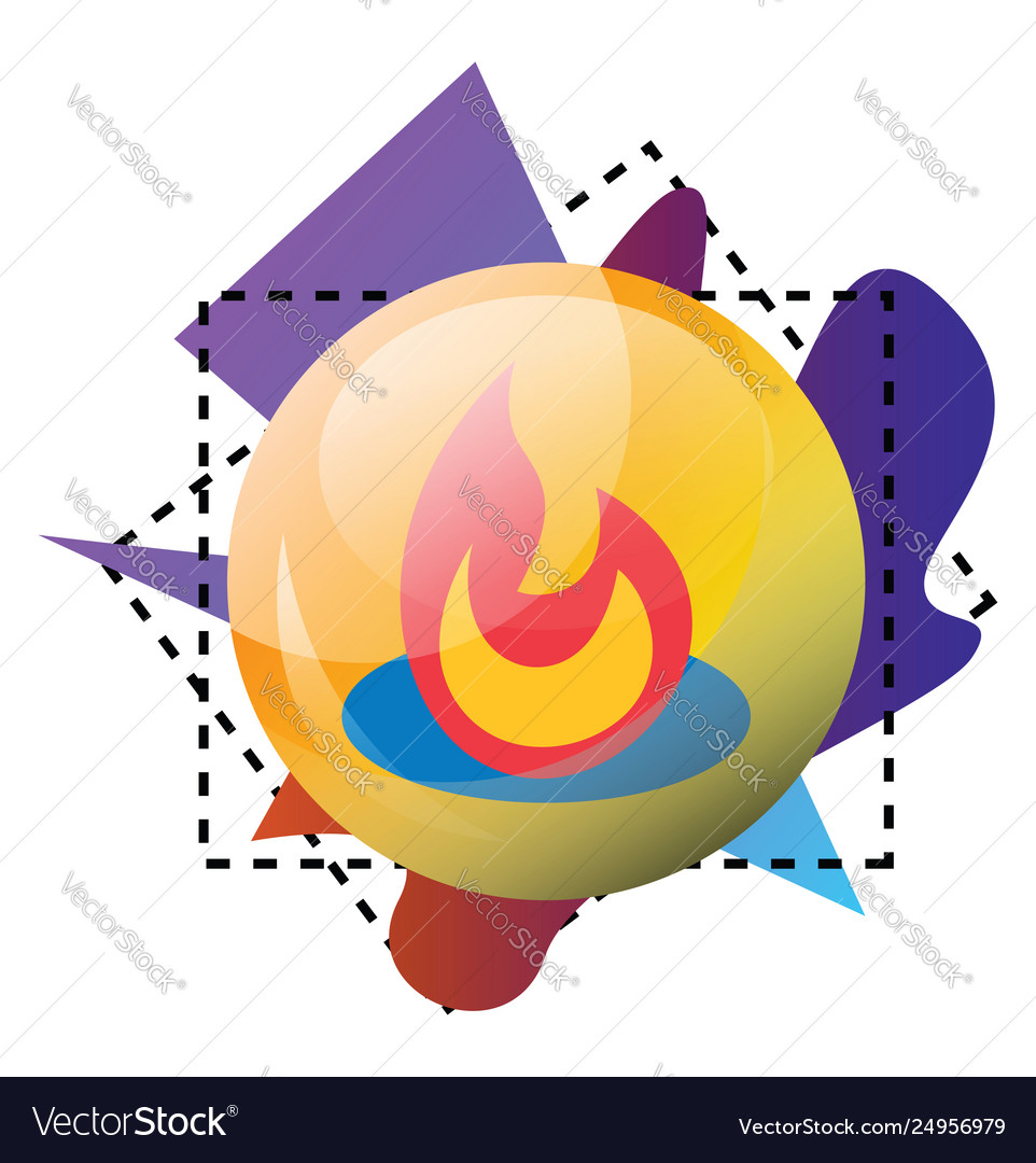 Feedburner logo and multicolor shapes on a white