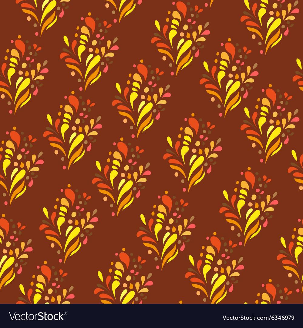 Orange ornament - seamless pattern dudling