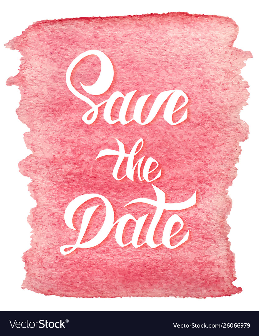 Save date card template with handdrawn unique