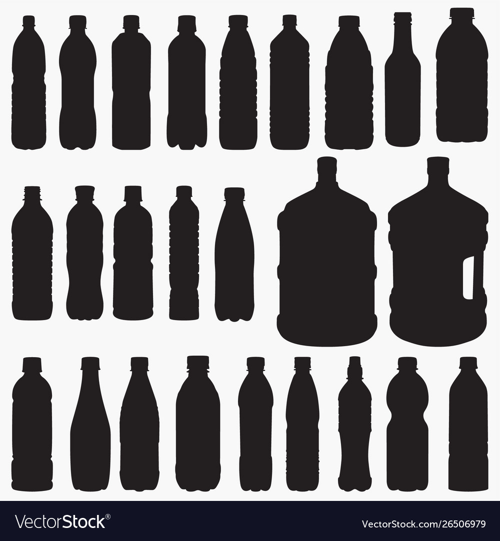 Water bottle silhouettes