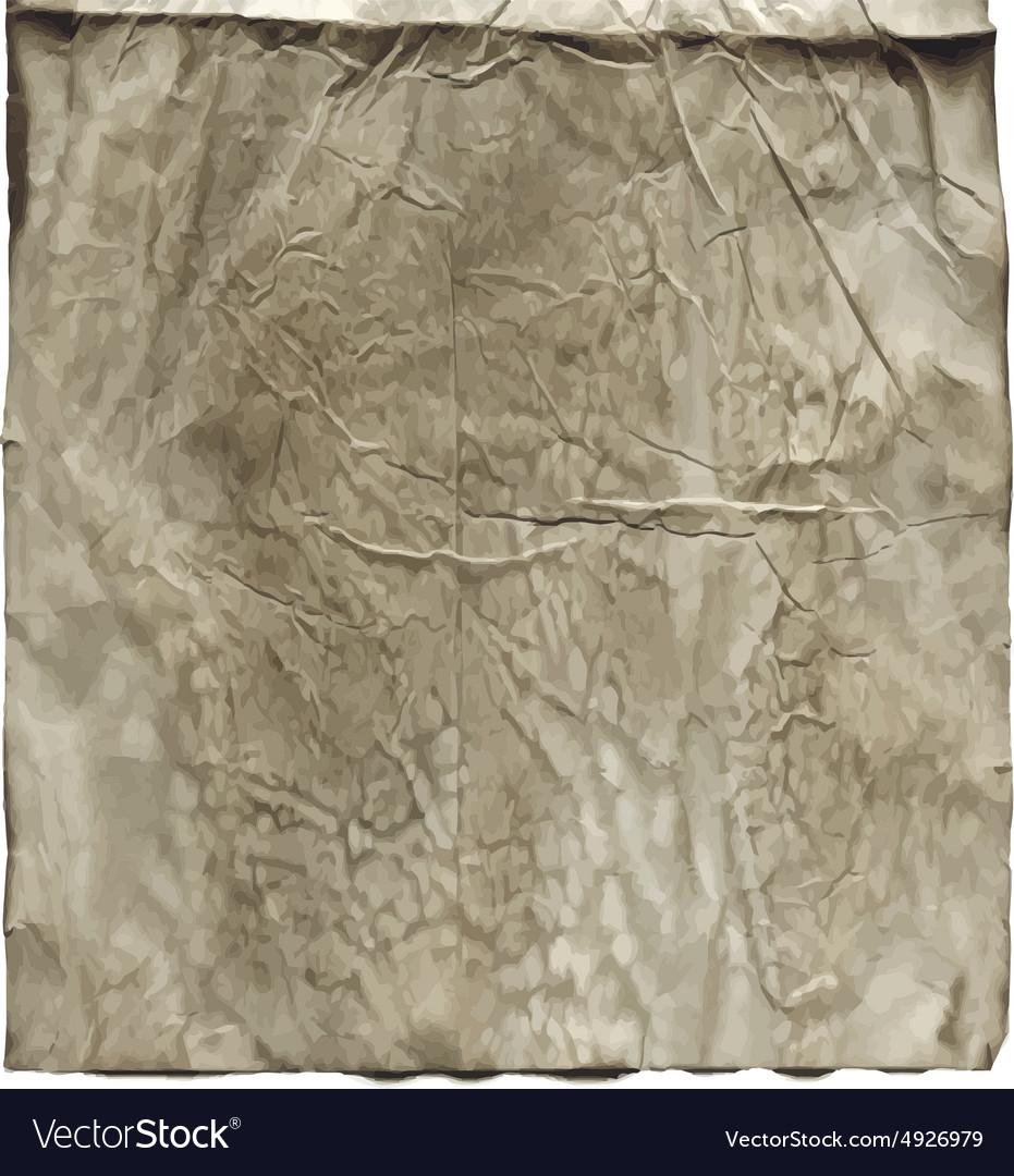 Wrinkled old vintage paper