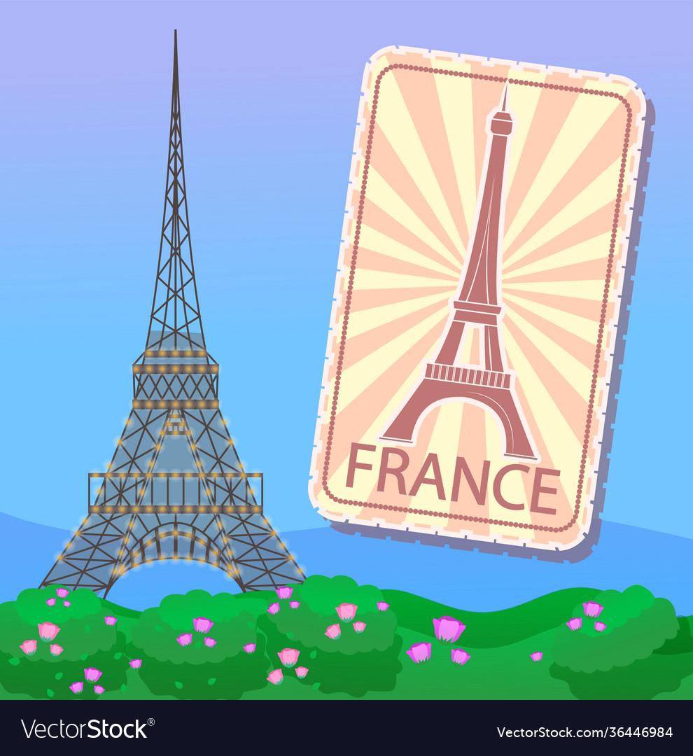 Eiffel tower in paris emblem or magnet france