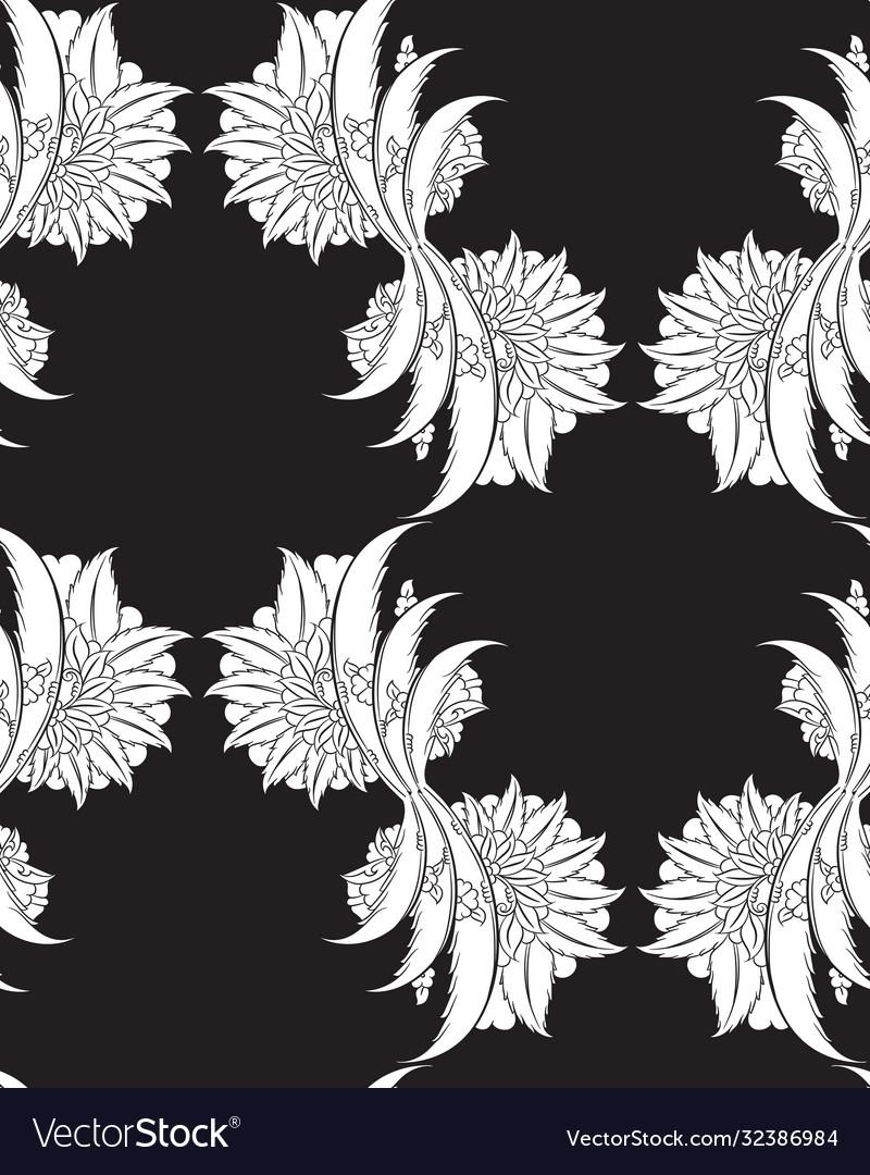 Floral iznik seamless pattern design