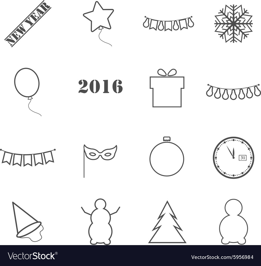 Icons new year