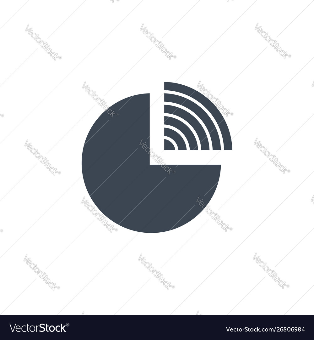 Pie chart related glyph icon