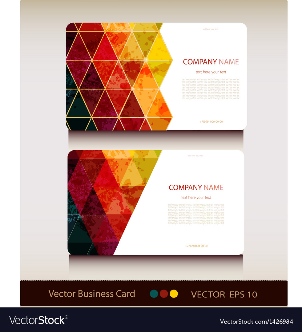 Set of abstract geometric business card royalty free vector set of abstract geometric business card vector image colourmoves