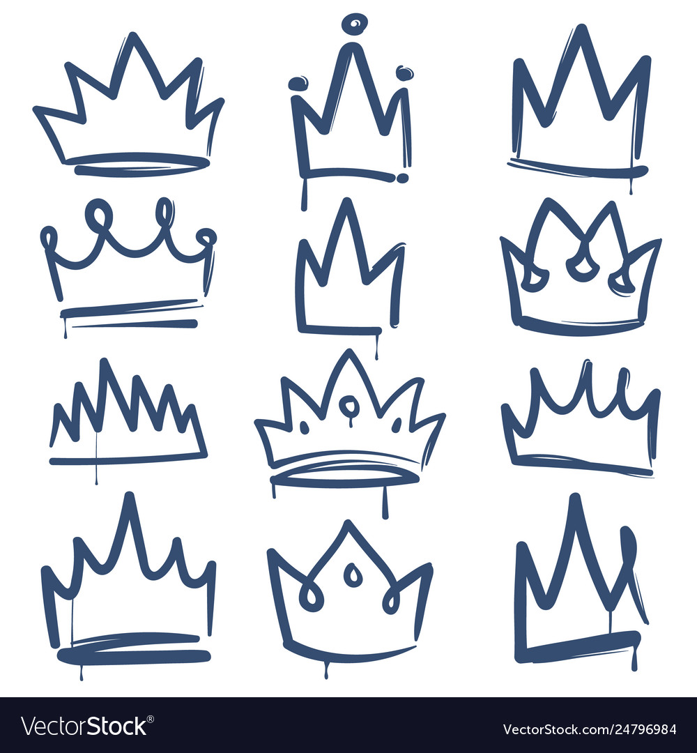 Sketch crown queen king crowns tiara luxury royal