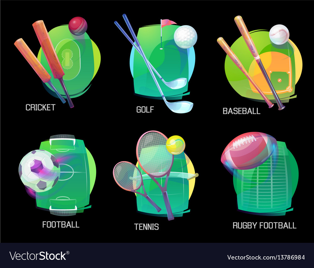 Tennis and soccer rugand baseball sports