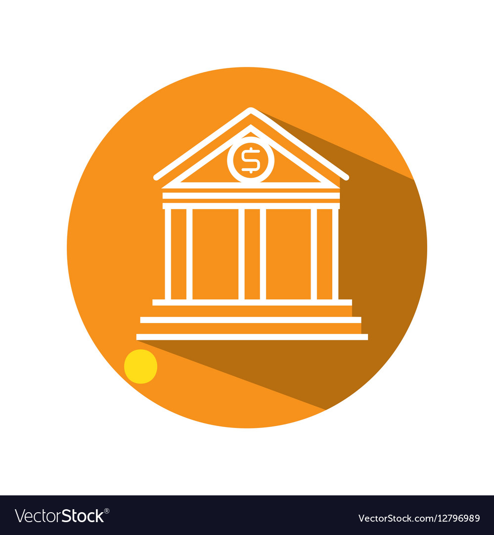 Bank building flat icon