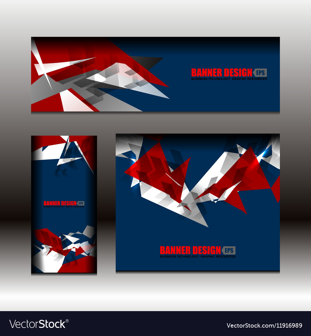 Business banner blue color design vector image