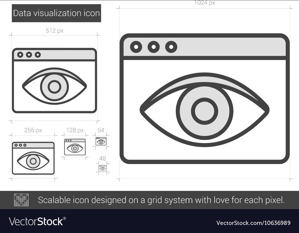 Data vizualization line icon