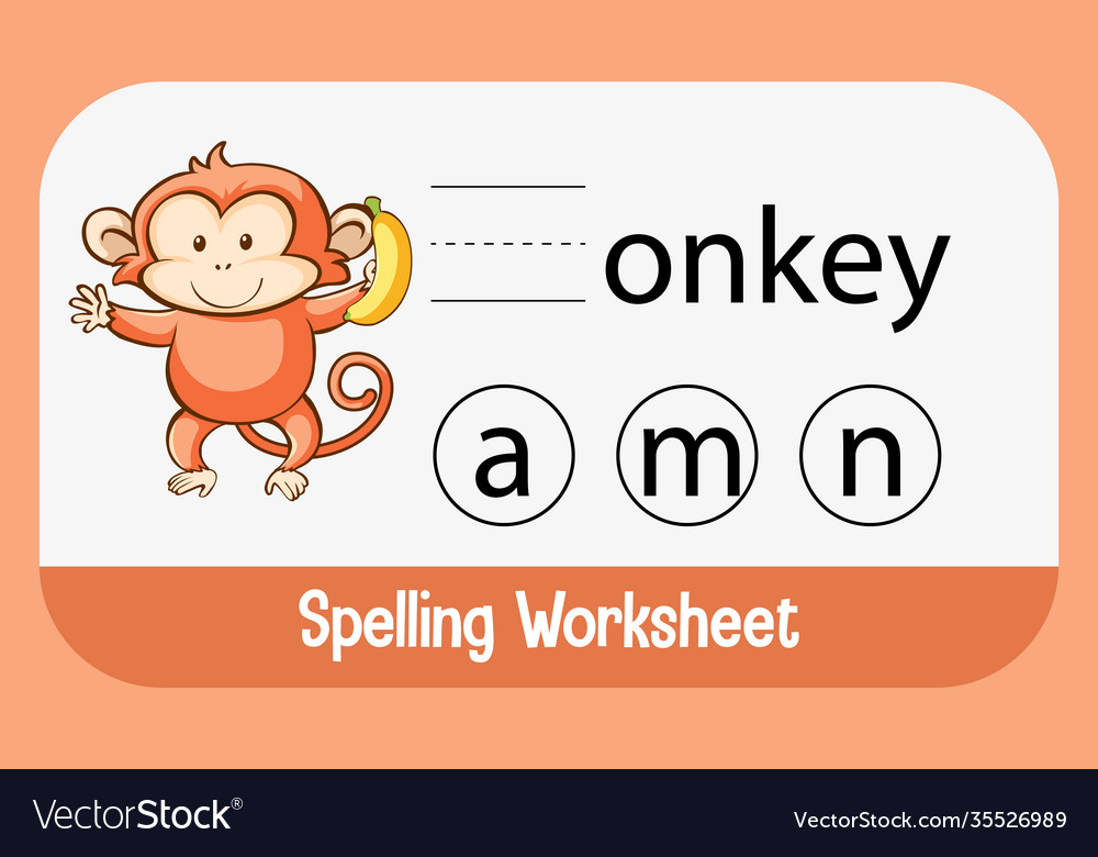 Find missing letter with monkey