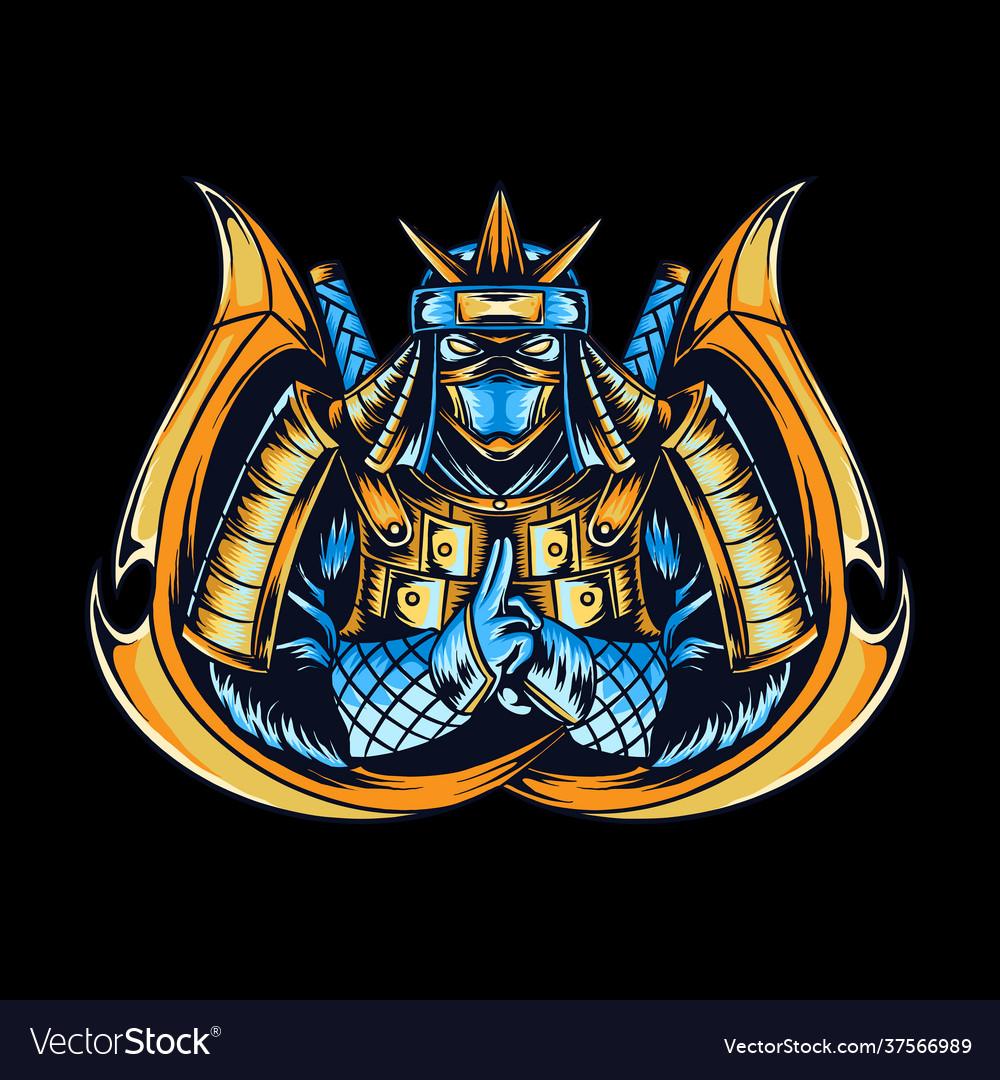 Ninja as gamers e-sport logo or t-shirt design