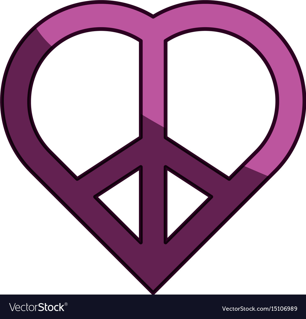 Peace And Love Symbol Royalty Free Vector Image
