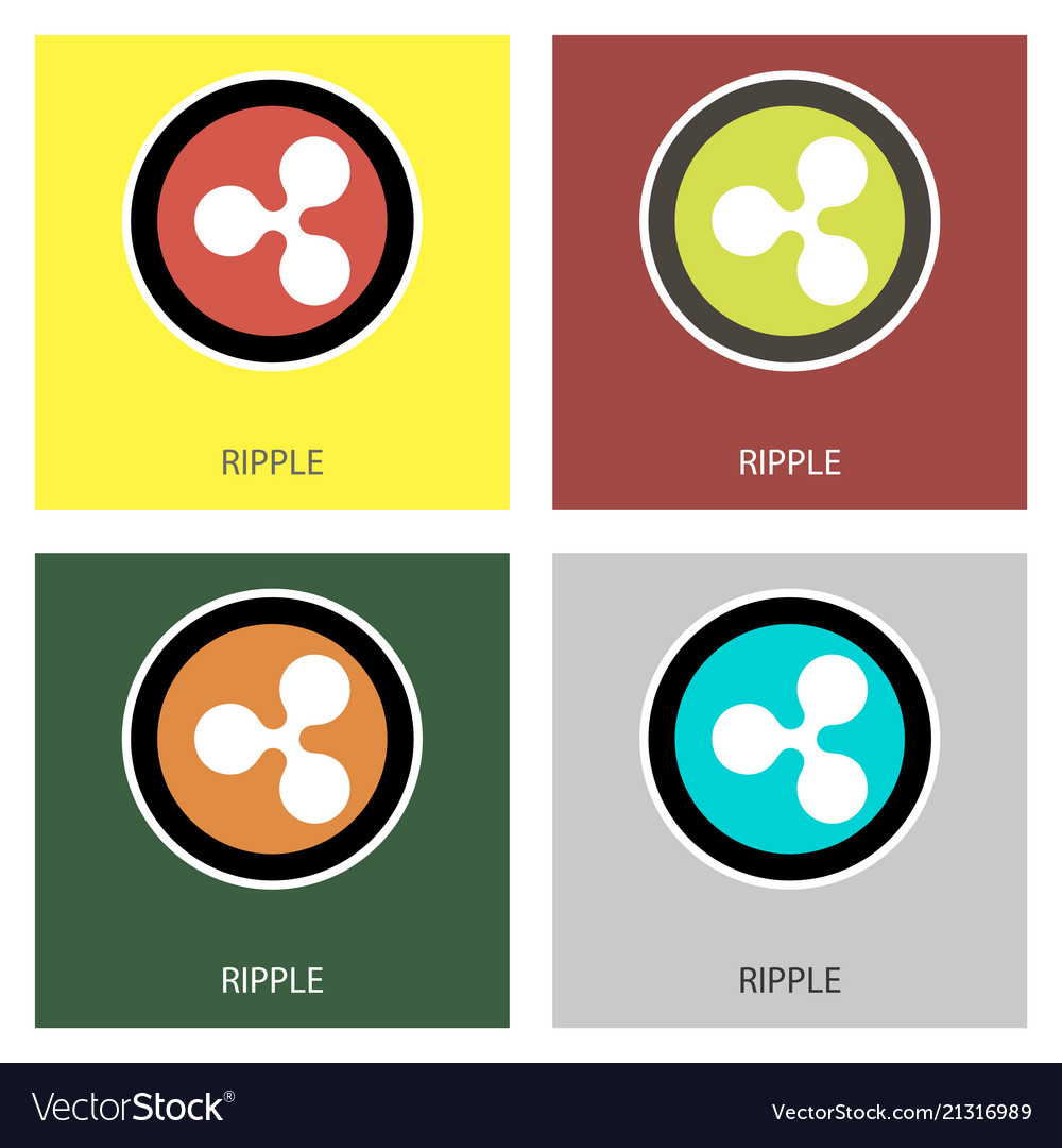 Ripple Xrp Outline Icon Cryptocurrency