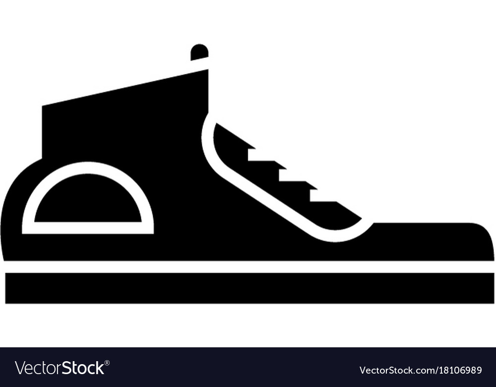 Sneakers icon black sign on vector image