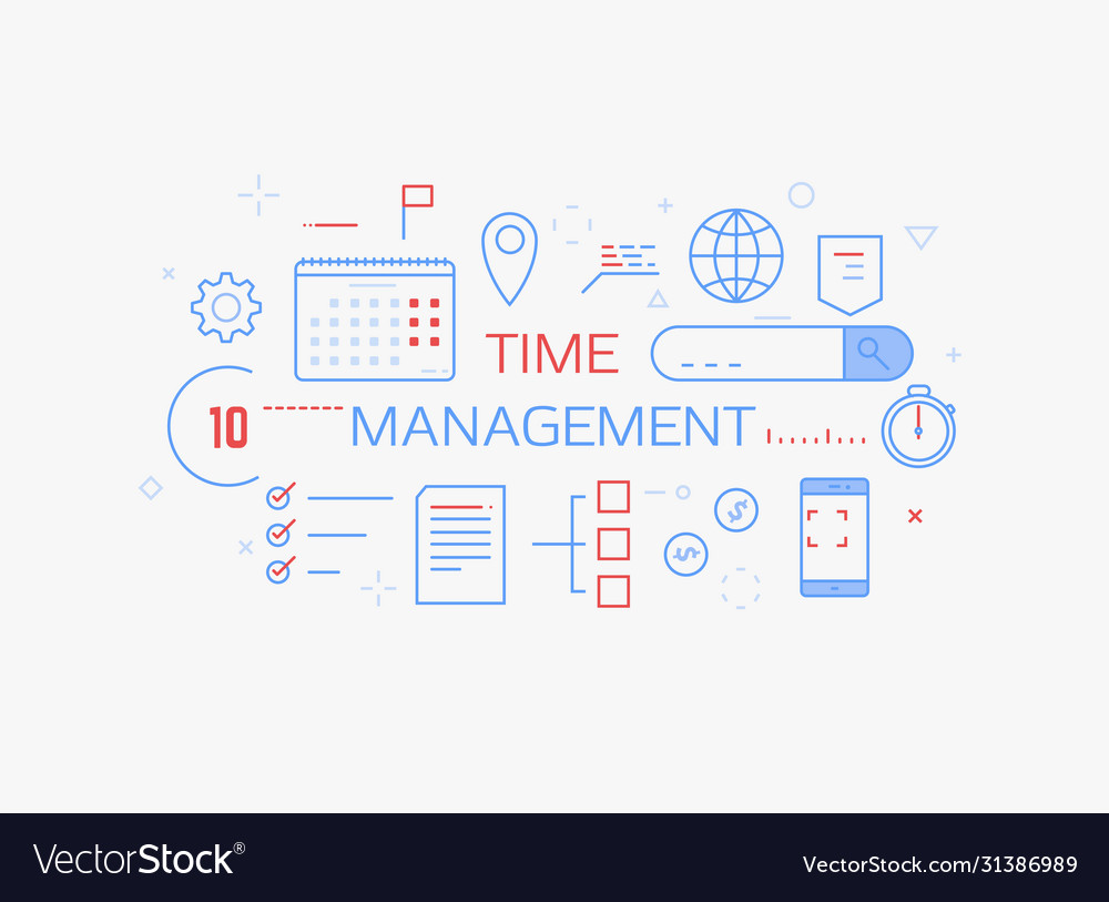 Time Management Banner Royalty Free Vector Image