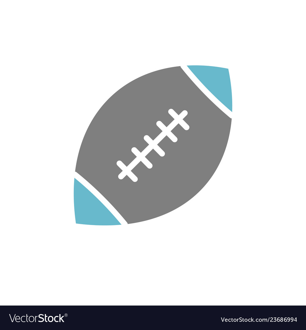 American football icon on white background for