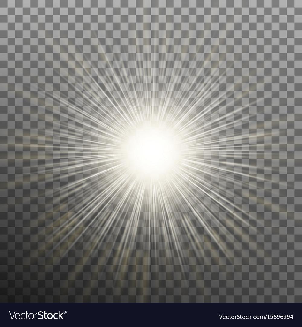 Burst effects on transparent background eps 10