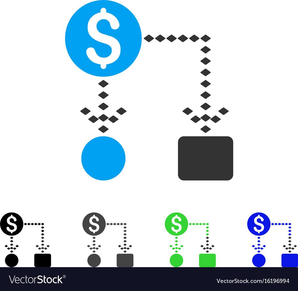 Cashflow scheme flat icon