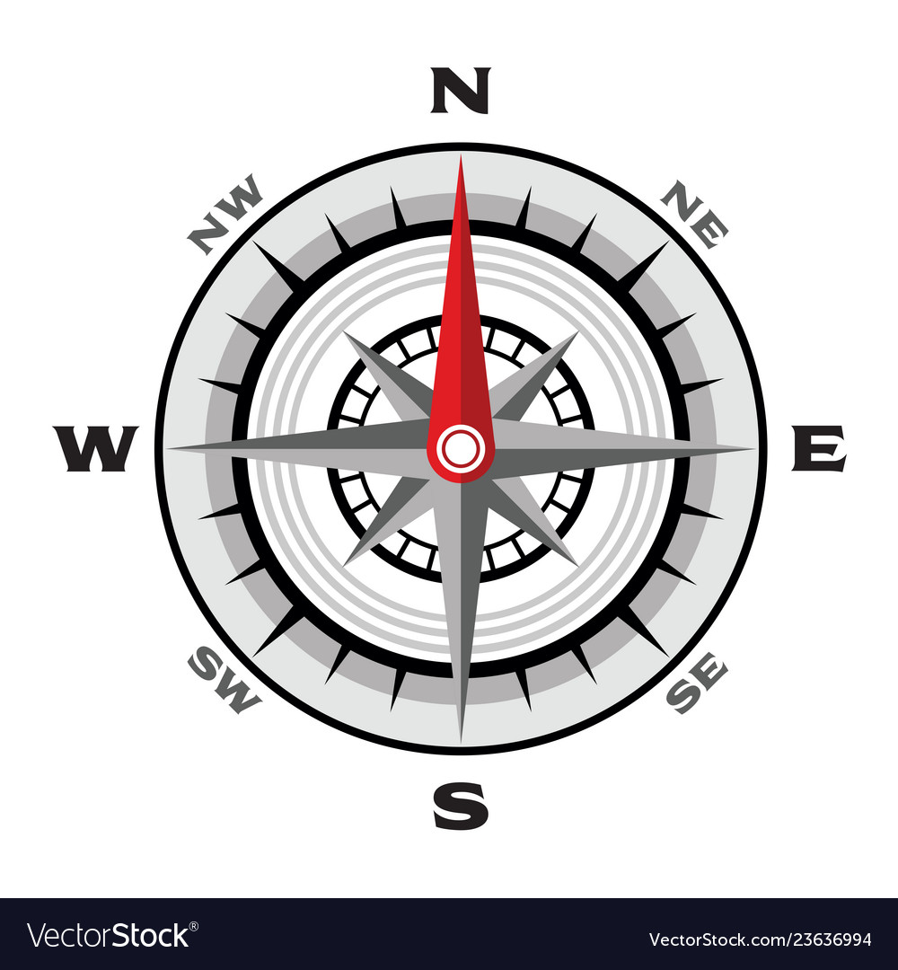 Compass flat on a white background