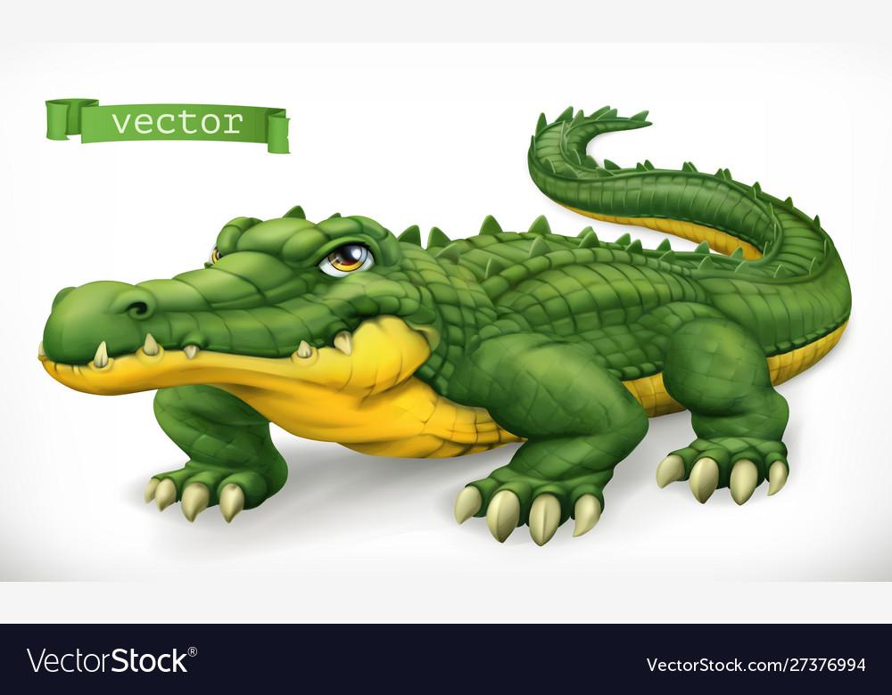 Crocodile alligator funny character animal 3d icon