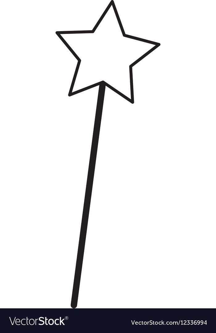 Fairy wand isolated icon