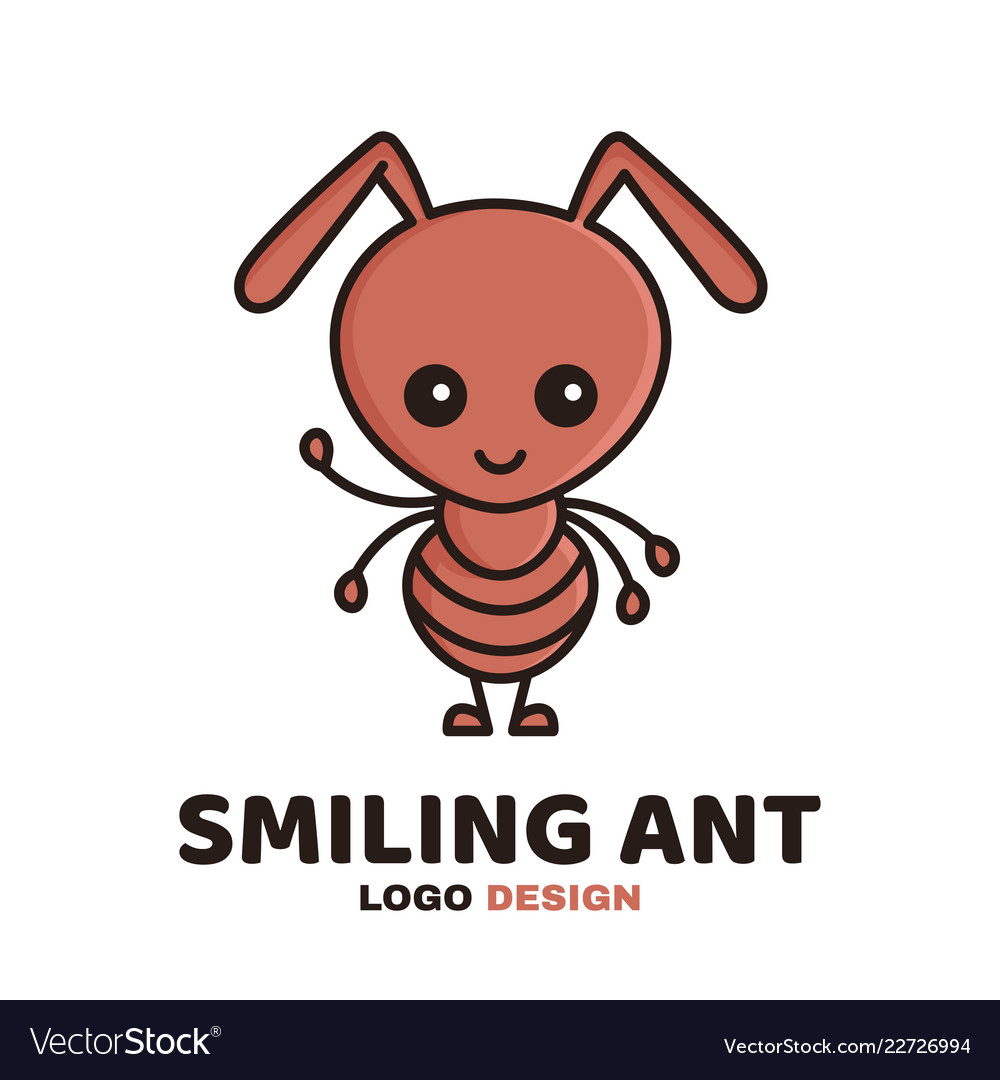 c1e77a6f681d Fun cute smiling smart ant Royalty Free Vector Image