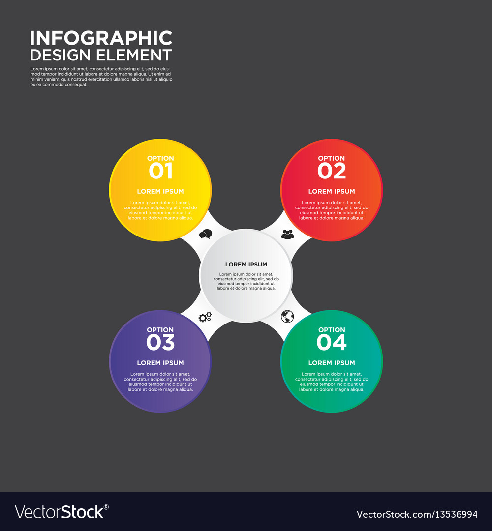 Infographic business report template layout