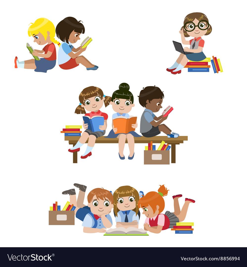 Kids Reading Books Set