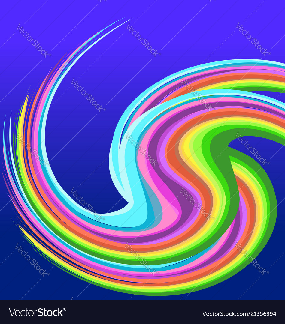 Rainbow swirly background