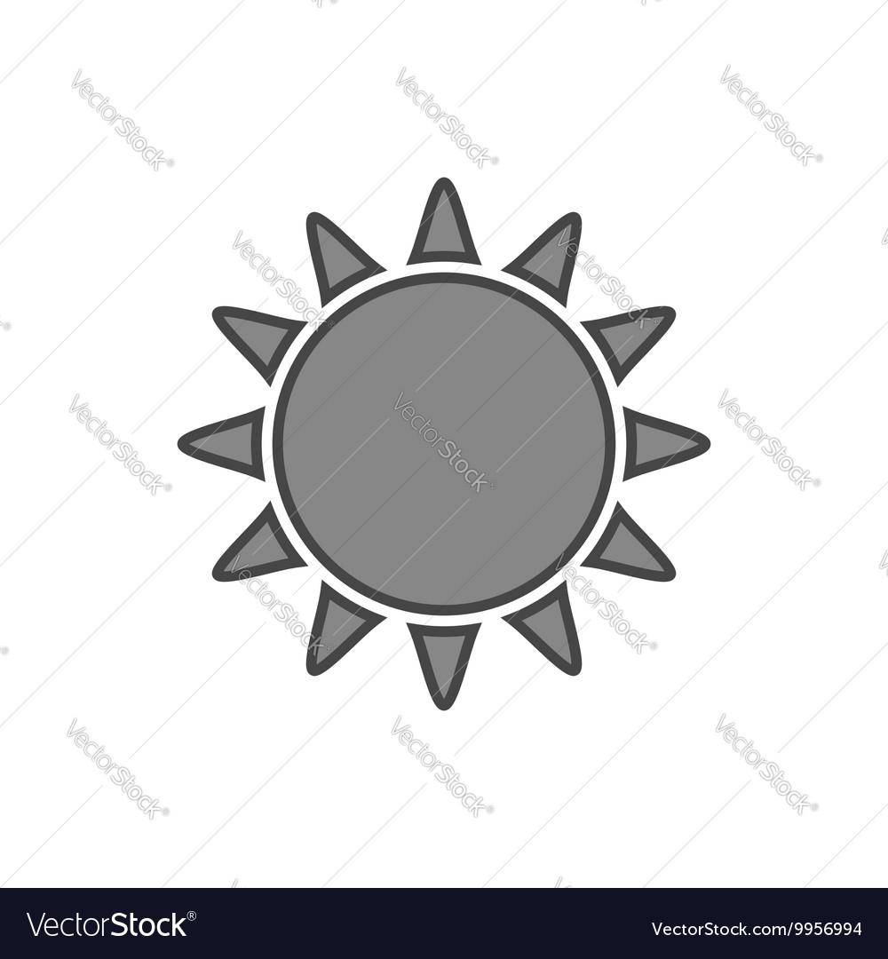 Sun icon Symbol black sunrise isolated white