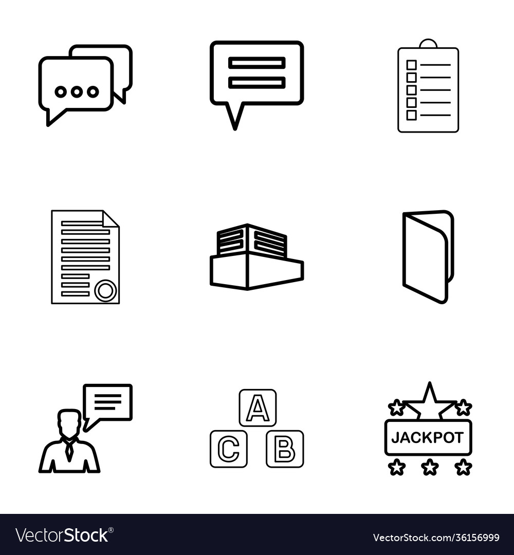 9 text icons