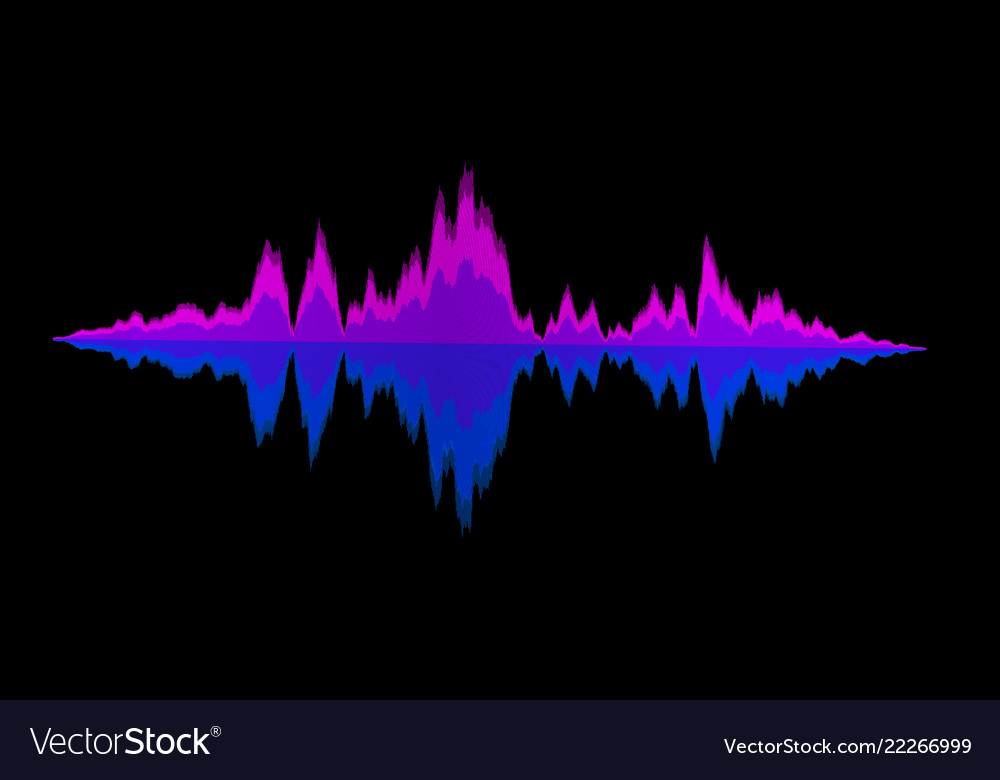 Abstract background sound waves for equalizer