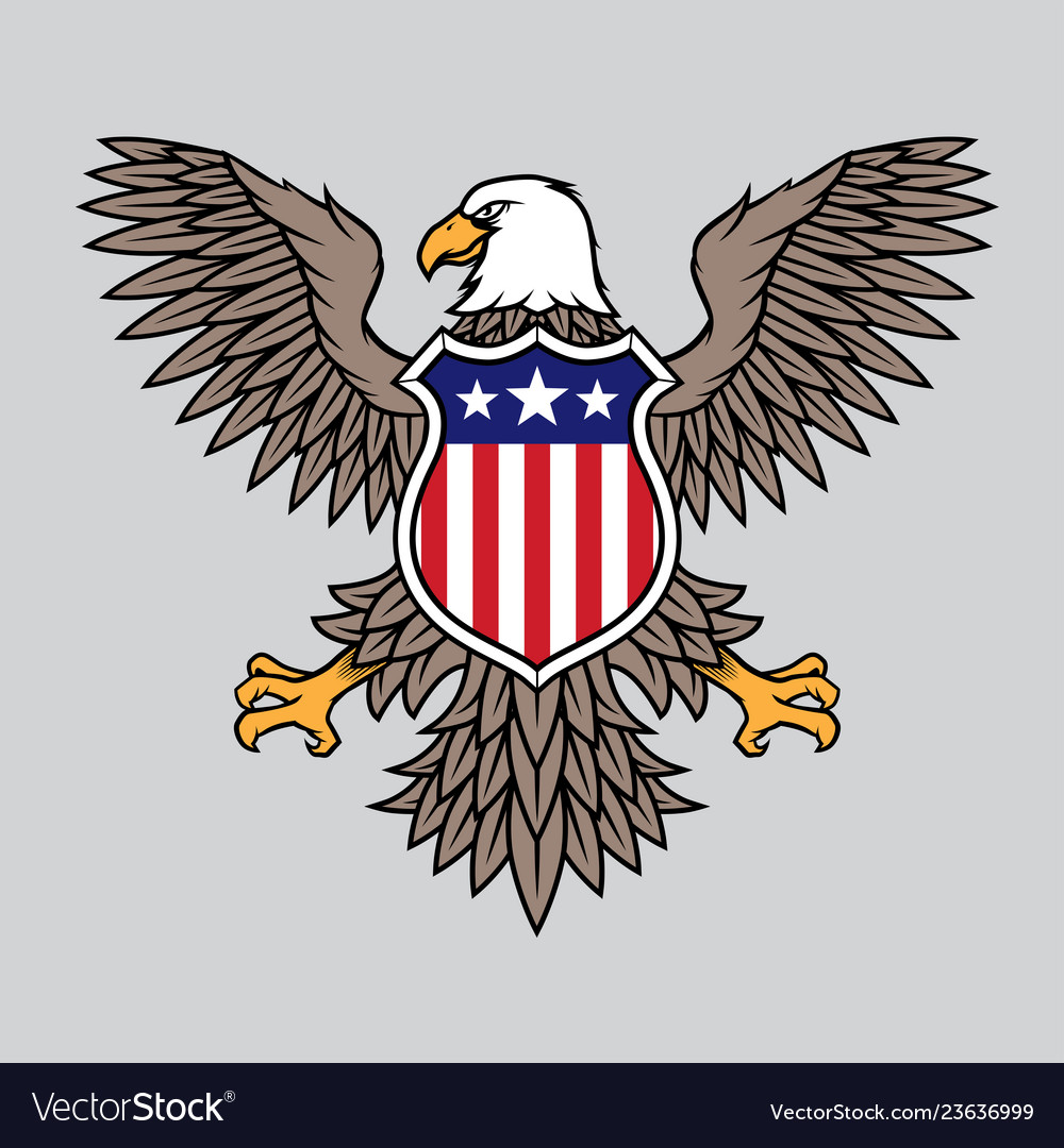 American eagle with stars and stripes badge