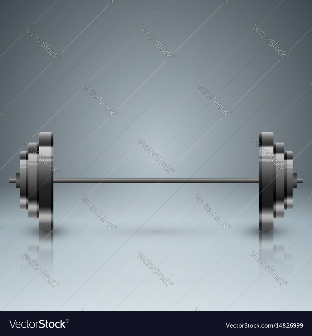 Barbell infographic with five origami paper