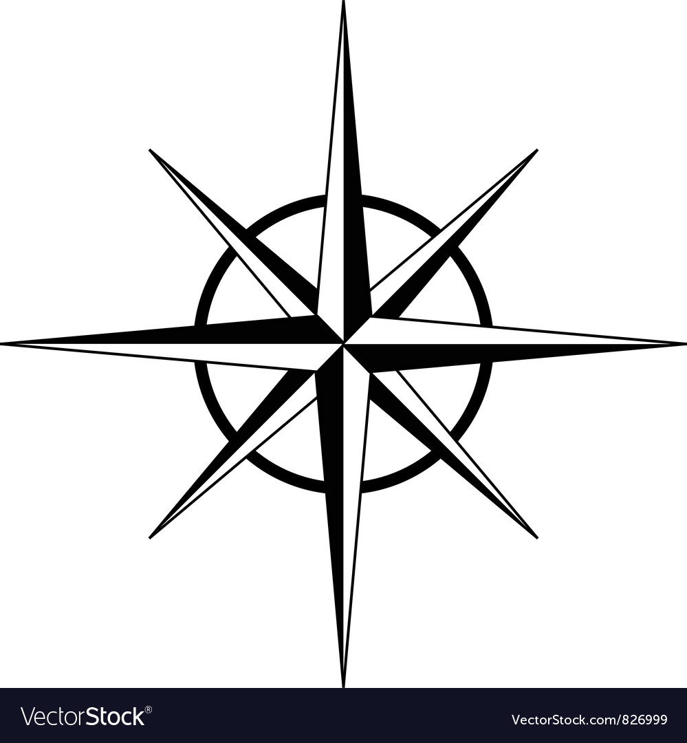compass rose royalty free vector image - vectorstock