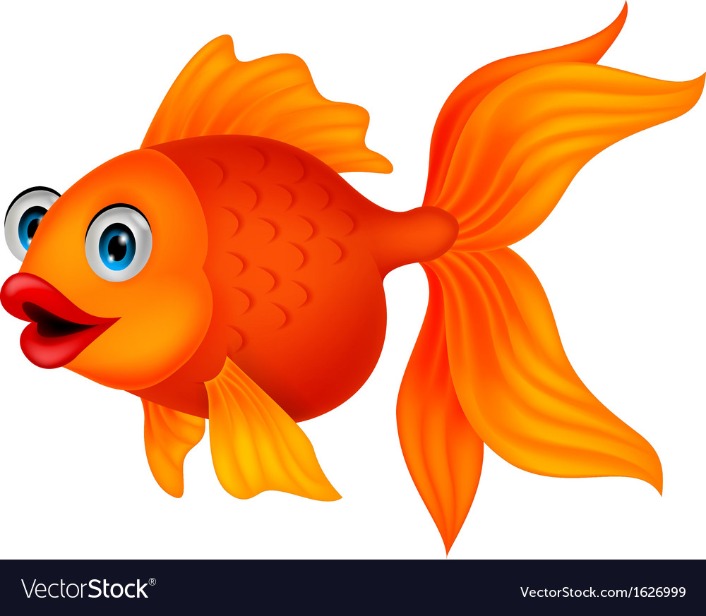 Fish Cartoons Cute golden fis...